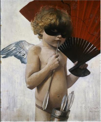 FRANZ STUCK: CUPID AT THE MASKED BALL